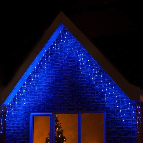 360 led blue christmas icicle snowing xmas lights party