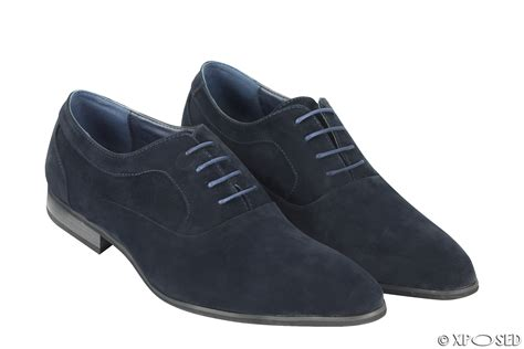 New Leather by New Mens Suede Leather Line Formal Oxford Lace Up Casual