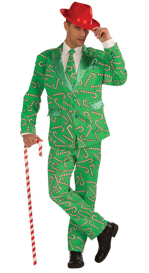 adult candy cane men tuxedo christmas costume 64 99