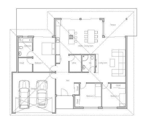 new house plans 2013 small house plan with three bedrooms and open plan large