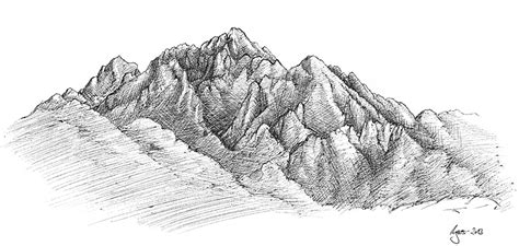 berge malen learn to draw mountains and mountain landscapes