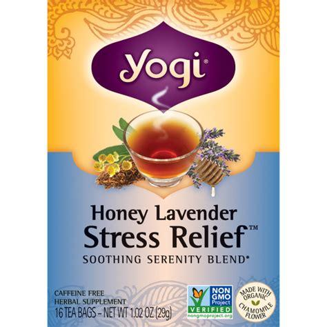 Honey Lavender Stress Relief Yogi During Detox yogi tea honey lavender stress relief 16 bag s swanson