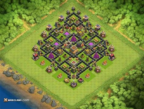 coc strong layout 12 best clash of clans town hall 8 base defense layout