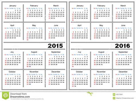 2015 2016 calendar template calendar template 2015 2016 stock vector image 43273061
