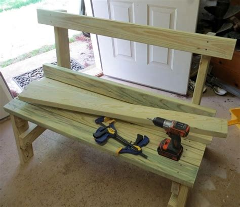 how to build a bench with back diy 2x4 bench sweet pea
