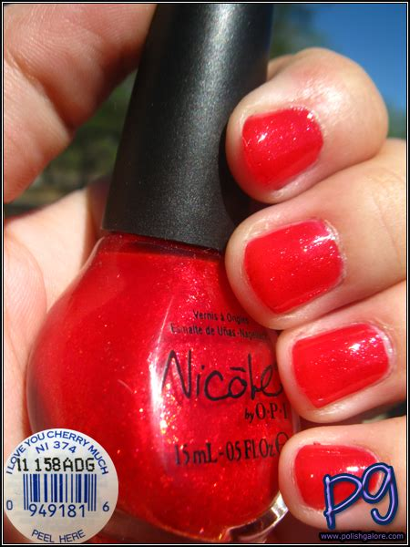 best opi polish for 60 year olds nicole by opi i love you cherry much polish galore
