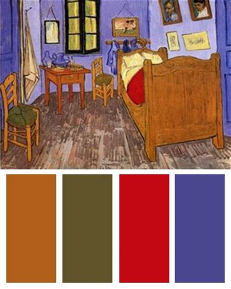 Gogh Bedroom Purple Color Palettes Vincent Gogh And On