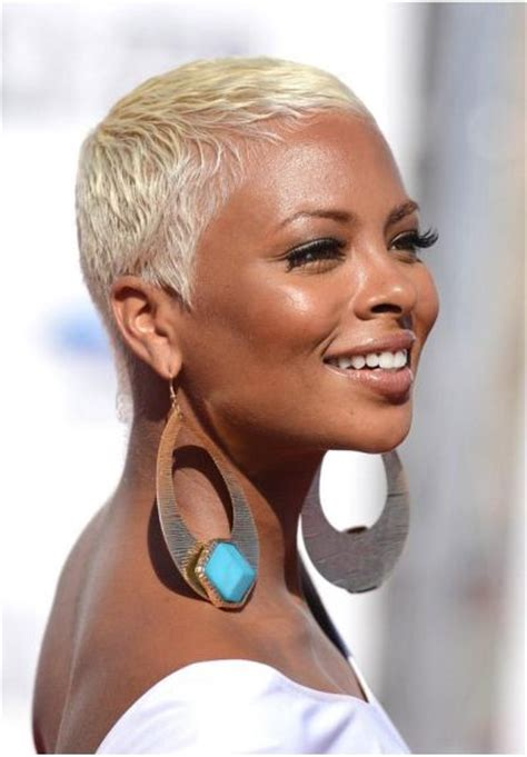 black lady with short natural platinum hair best hair color for dark skin that black women want in 2017