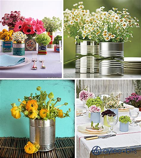 Recycled Wedding Decor by Recycled Bottle Centerpieces