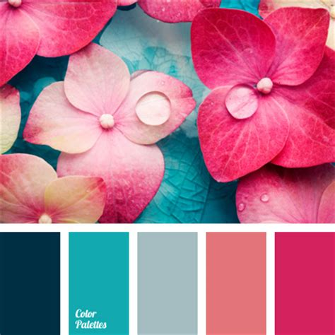 pink color combination shades of pink and blue color palette ideas