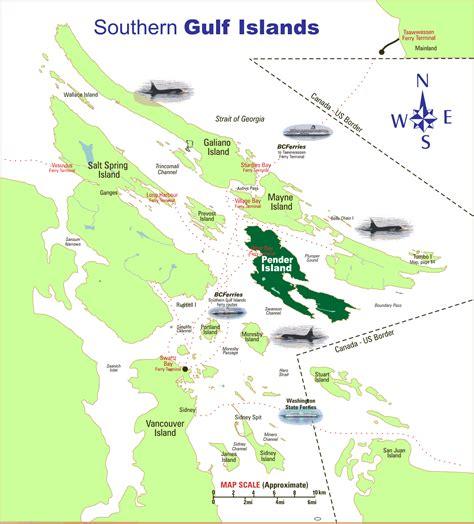 www southern southern gulf islands map pender island mappery