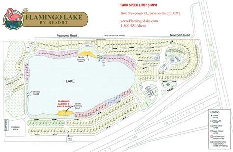flamingo resort map flamingo lake rv resort layout park map
