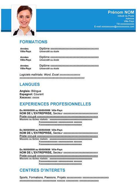 Mode Cv Word by Modele Cv Francais Telecharger Cv Anonyme