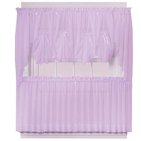 30 inch curtains buy emelia 30 inch sheer window curtain tier pair in lilac