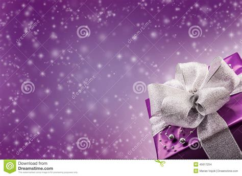 wallpaper abstract gift christmas or valentine s purple gift with silver ribbon