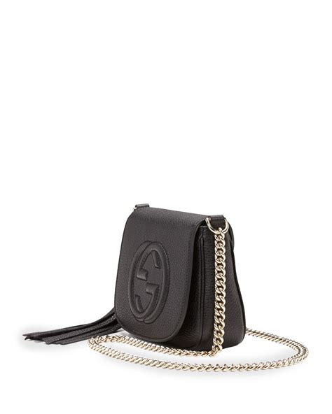 Gucci Soho Leather Backpack Ss17 18 lyst gucci soho leather chain crossbody bag in black