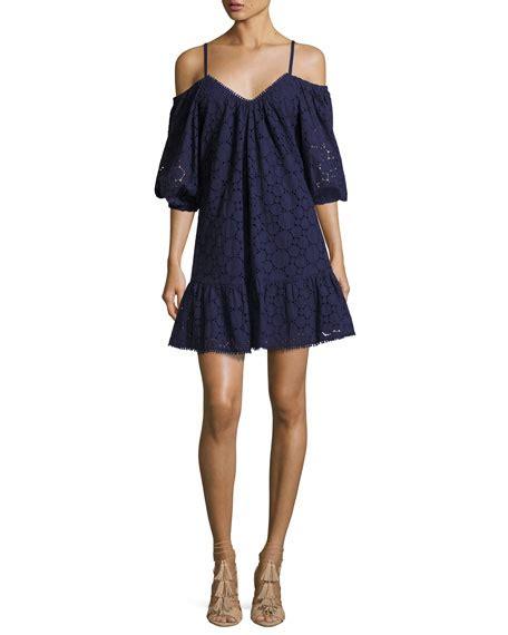pattern dress lace overlay parker henrietta lace overlay cotton dress blue pattern