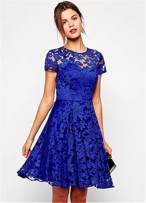 blau fee skater kleid spitze koeniglich charmant glamouroes
