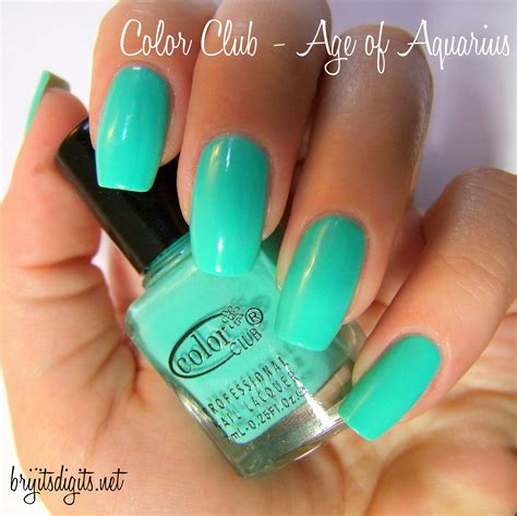 aqua acrylic nails color club brijit s digits