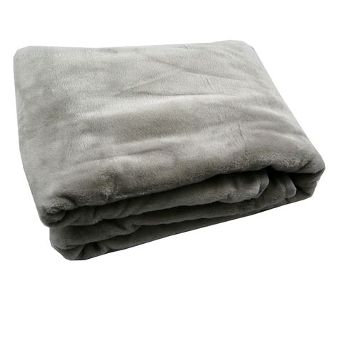 fleece decke fleece decke kuscheldecke flauschdecke grau 150x200cm