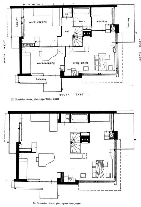 schroder house floor plan 19 best schroder house gerrit rietveld 1923 images on