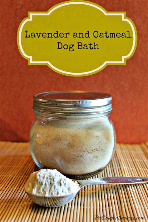 oatmeal bath for dogs moisturizing bath soak diy crafts