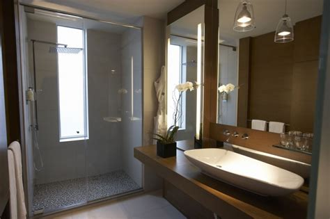 hotel bathroom design green hotel le germain calgary design by lemaymichaud