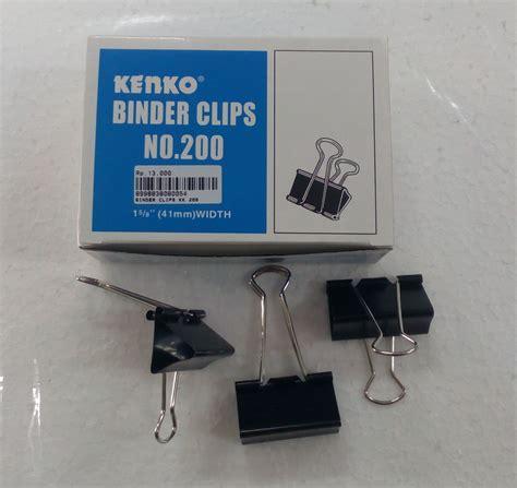 Kenko Binder Clip No 200 1 Lusin jual binder kenko 200 klip jepitan penjepit kertas