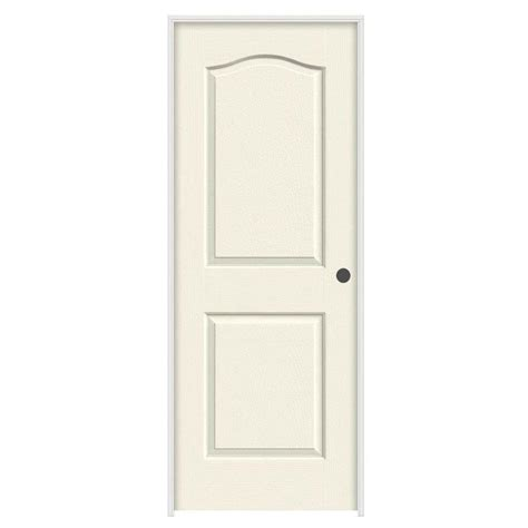 Jeld Wen 32 In X 80 In Princeton Vanilla Painted Left 32 Interior Door