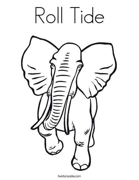 alabama elephant coloring page roll tide coloring page twisty noodle