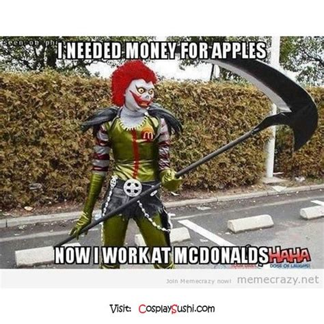 Cosplay Meme - ryuk work for mcdonalds what do you think 183 183 follow