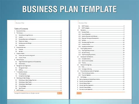 planning business plan template sle business plan fotolip rich image and wallpaper