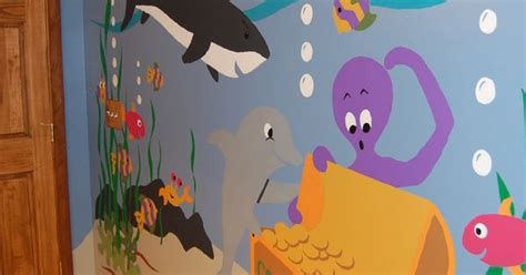 Wall Stickers For Kids Bedrooms sea treasures wall mural wall murals underwater and walls