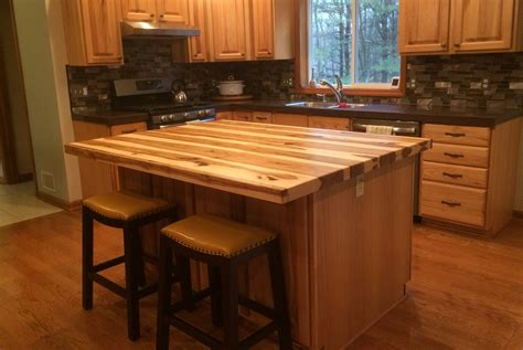 hickory kitchen island hickory kitchen island top wood countertops island