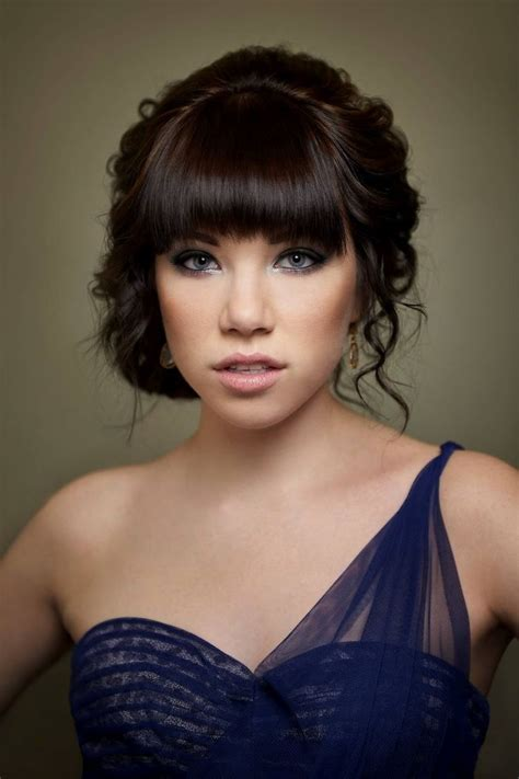 carly rae jepsen hairstyle back my only worry with bangs is prom hair but this is