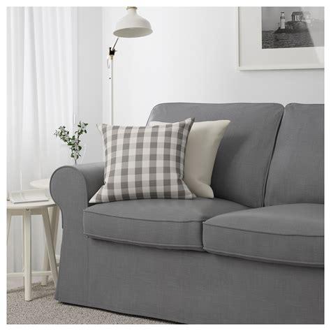 grey couches ikea ektorp two seat sofa nordvalla dark grey ikea