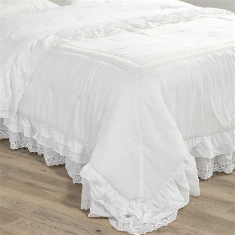 copriletti romantici boutis en coton blanc 240 x 260 cm cl 201 mence maisons du monde