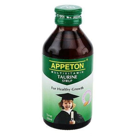 Appeton Syrup appeton multivitamin taurine promote brain eye development increase happygreenstore