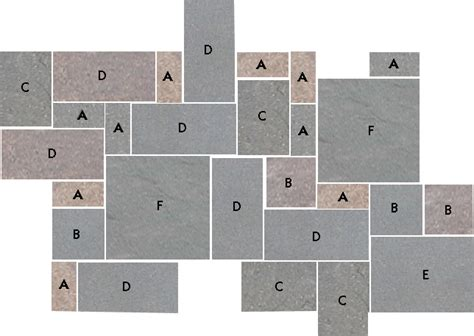 Random Patio Planner by Pa Blue Rectilinear Design Bluestone Flagstone
