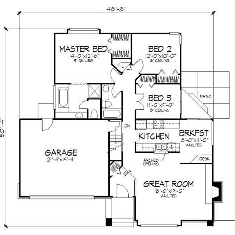 480 square feet house plan 2 beds 2 baths 1368 sq ft plan 320 480