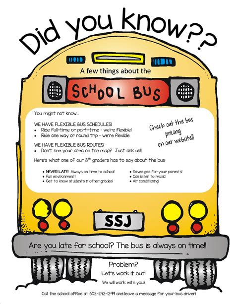Bus Service Ss Simon Jude School School Field Trip Flyer Template
