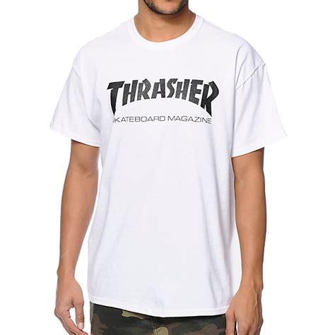 Tshirt Thrasher White thrasher magazine logo t shirt white