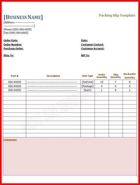 14 Packing Slip Templates Free Word Templates Packing Slip Template
