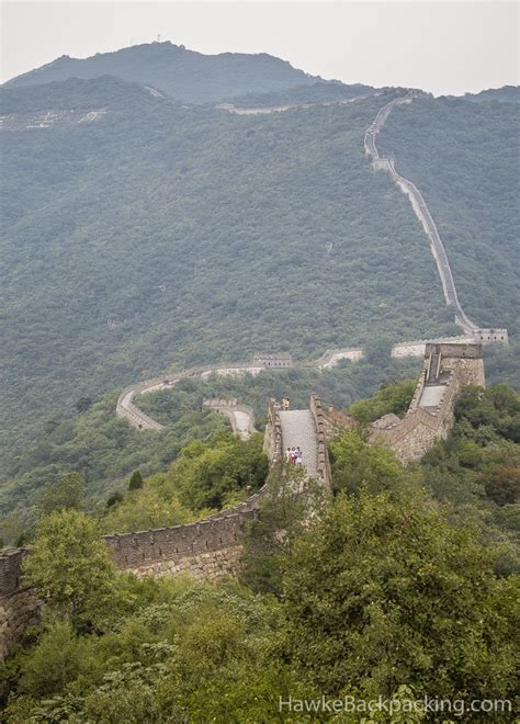 great wall of china sections mutianyu section great wall of china hawkebackpacking com