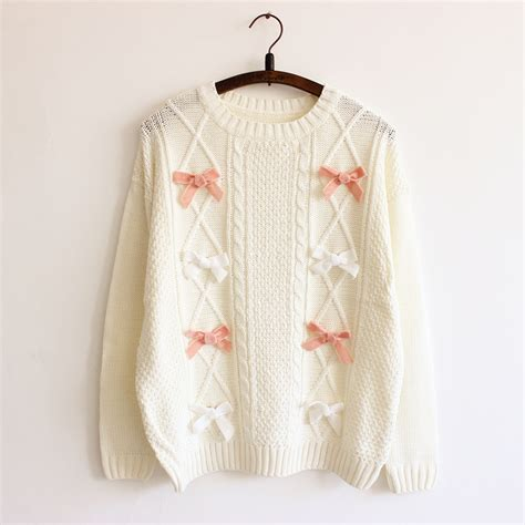 7 Cutest Womens Sweaters by 2016 New Bow Tie Decoration S Sweaters Waves