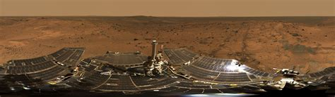 spirit mars rover cameras summit panorama with rover deck