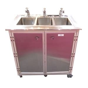 shoo bowl portable self contained sink stainless steel 3 bowl portable sink