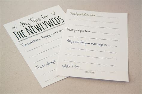 newlywed card template diy newlywed tip jar printable guest book alternative