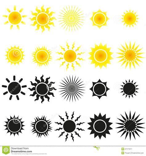 imagenes sol negro conjunto de vectores del sol en amarillo y negro imagen de