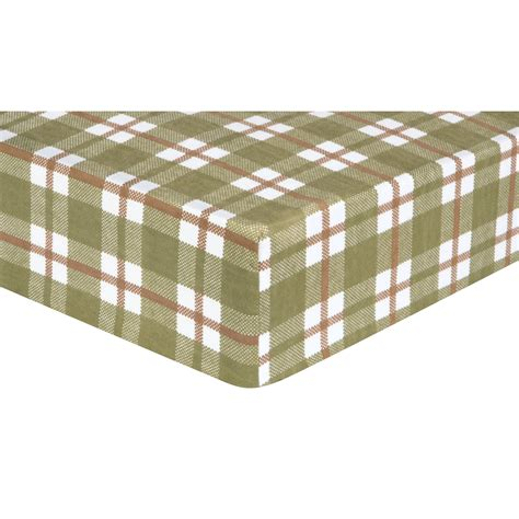 Fleece Sheets For Crib by Trend Lab Deer Lodge Plaid Flannel Fitted Crib Sheet